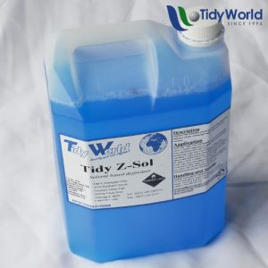 Tidy Z-Sol is a a degreaser with outstanding emulsification and cleaning properties.