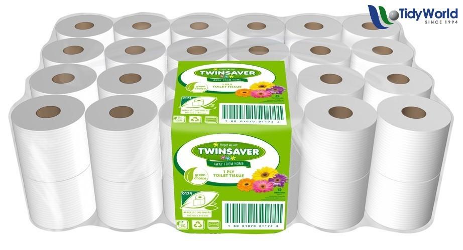 Twinsaver 1 Ply Toilet Paper X 48 Rolls Tidy World