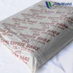 Black plastic refuse bags