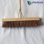 Stiff platform broom